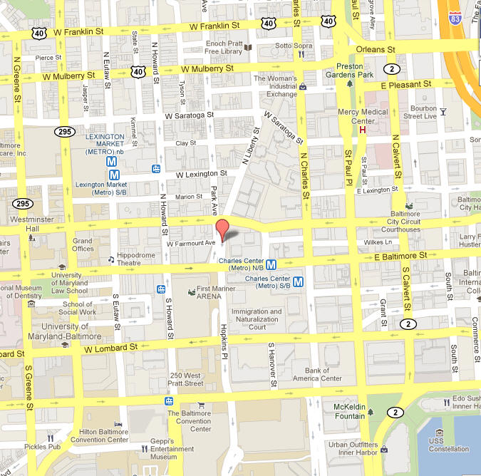 Directions to Maryland Higher Education Commission on