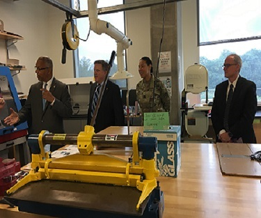 Lt Gov Rutherford visits Montgomery College